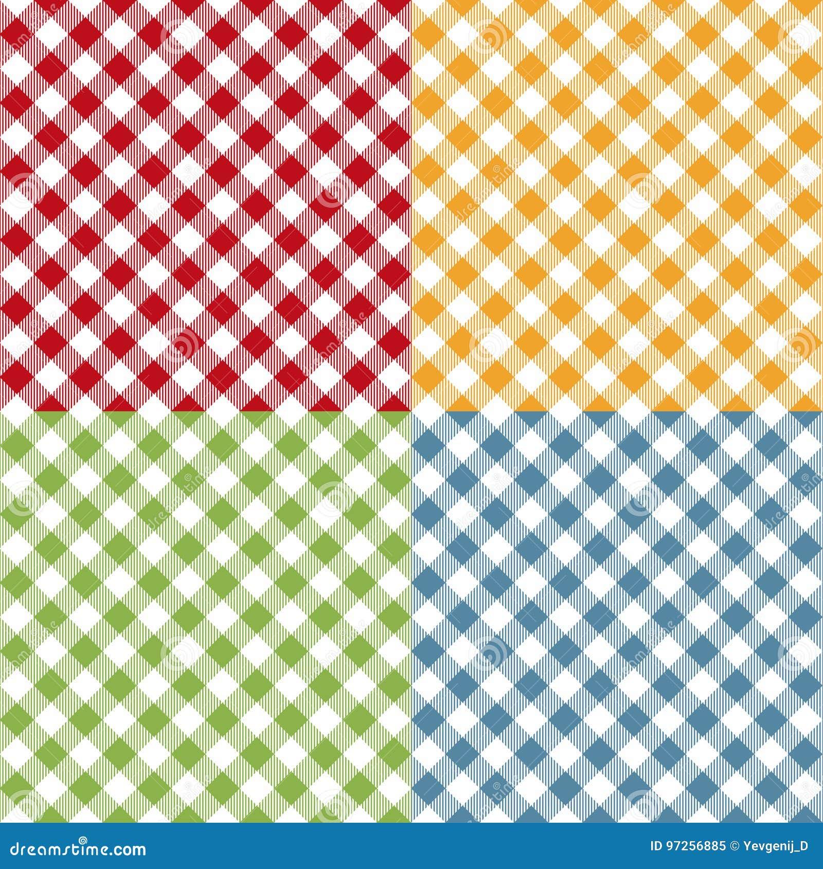 Ensemble sans couture de modèle de nappe de pique-nique Texture de plaid de pique-nique