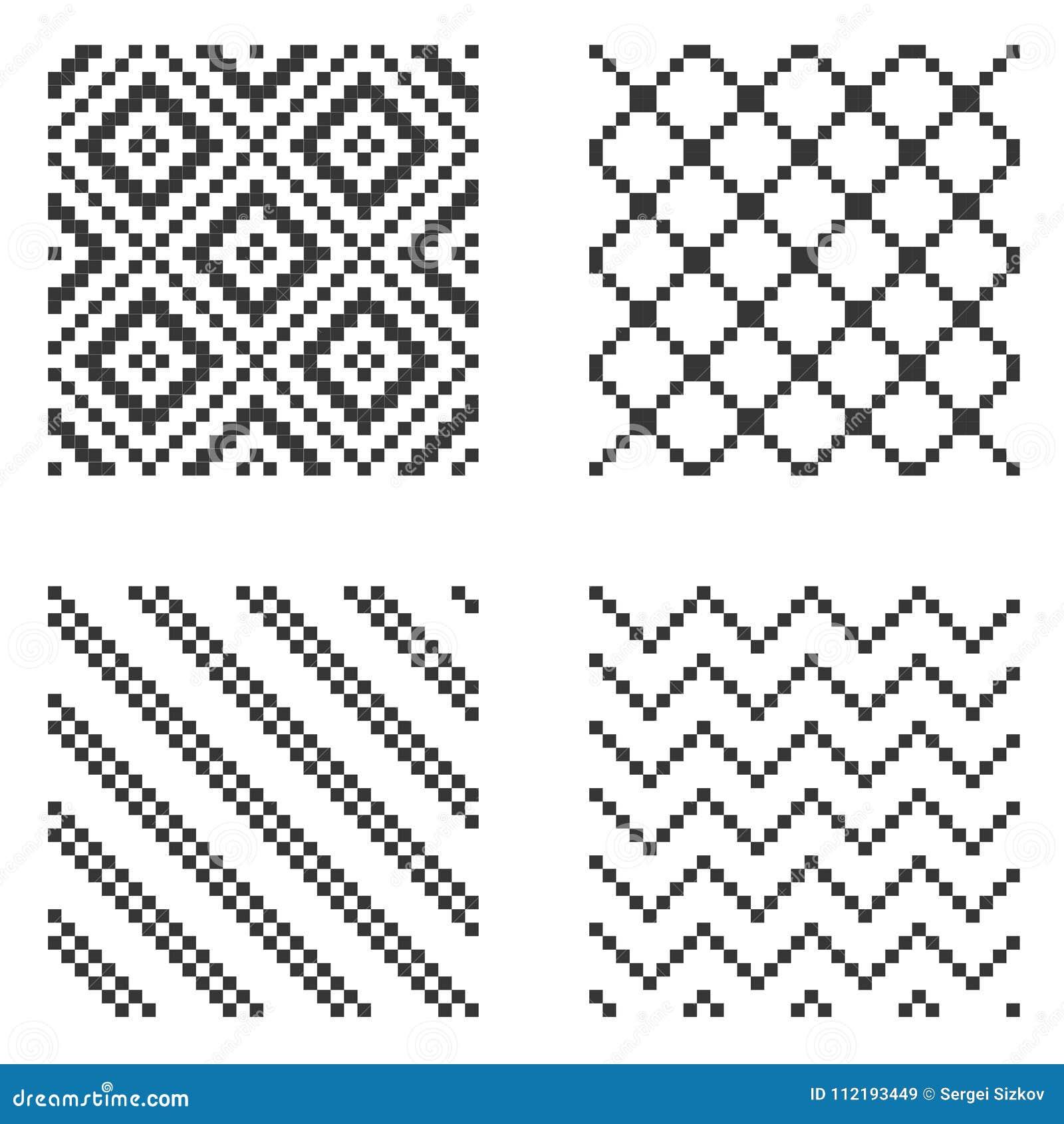 Ensemble sans couture de modèle de pixel Vecteur