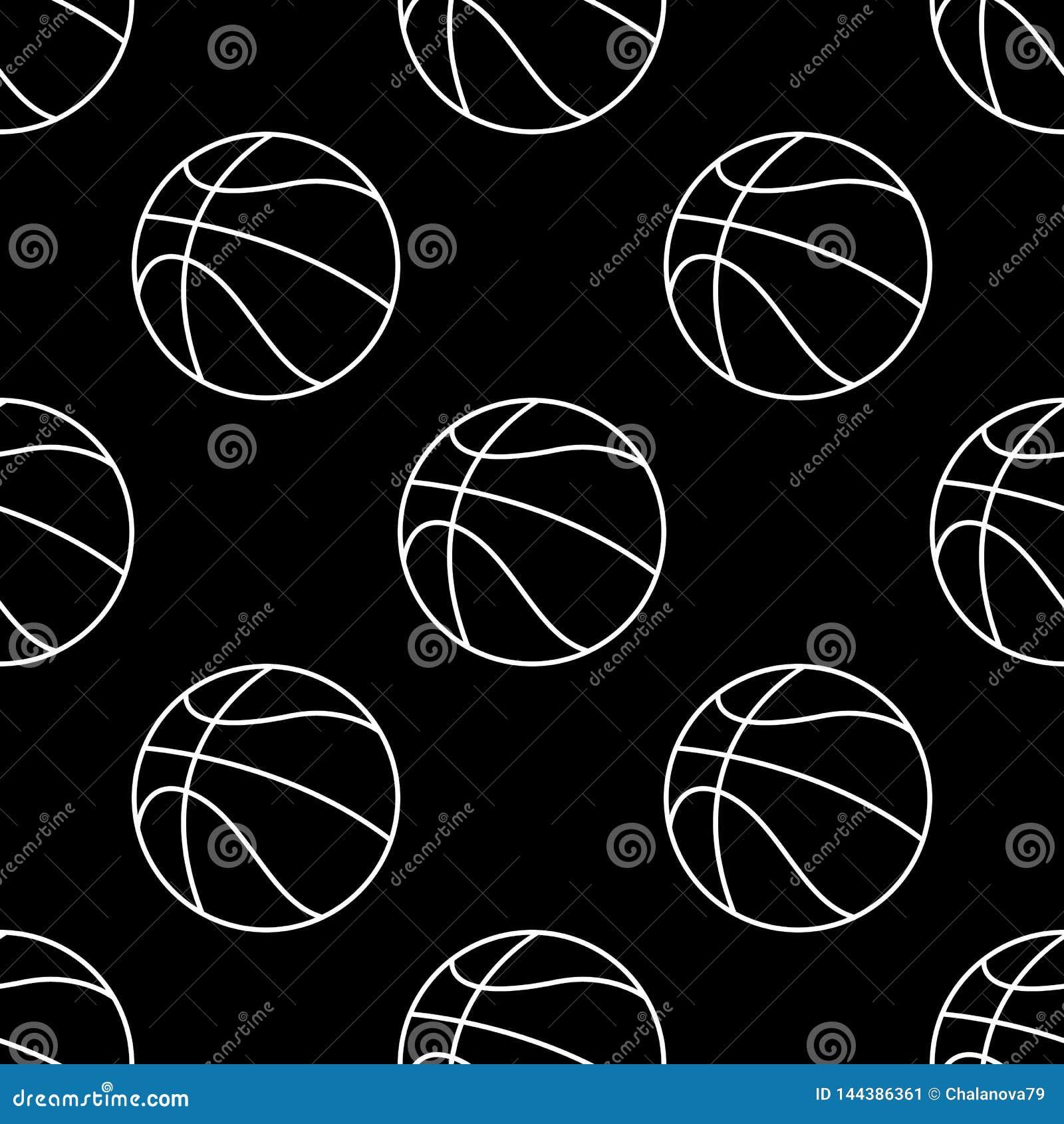 Ensemble sans couture de mod?le de boule de basket-ball Fond de sport