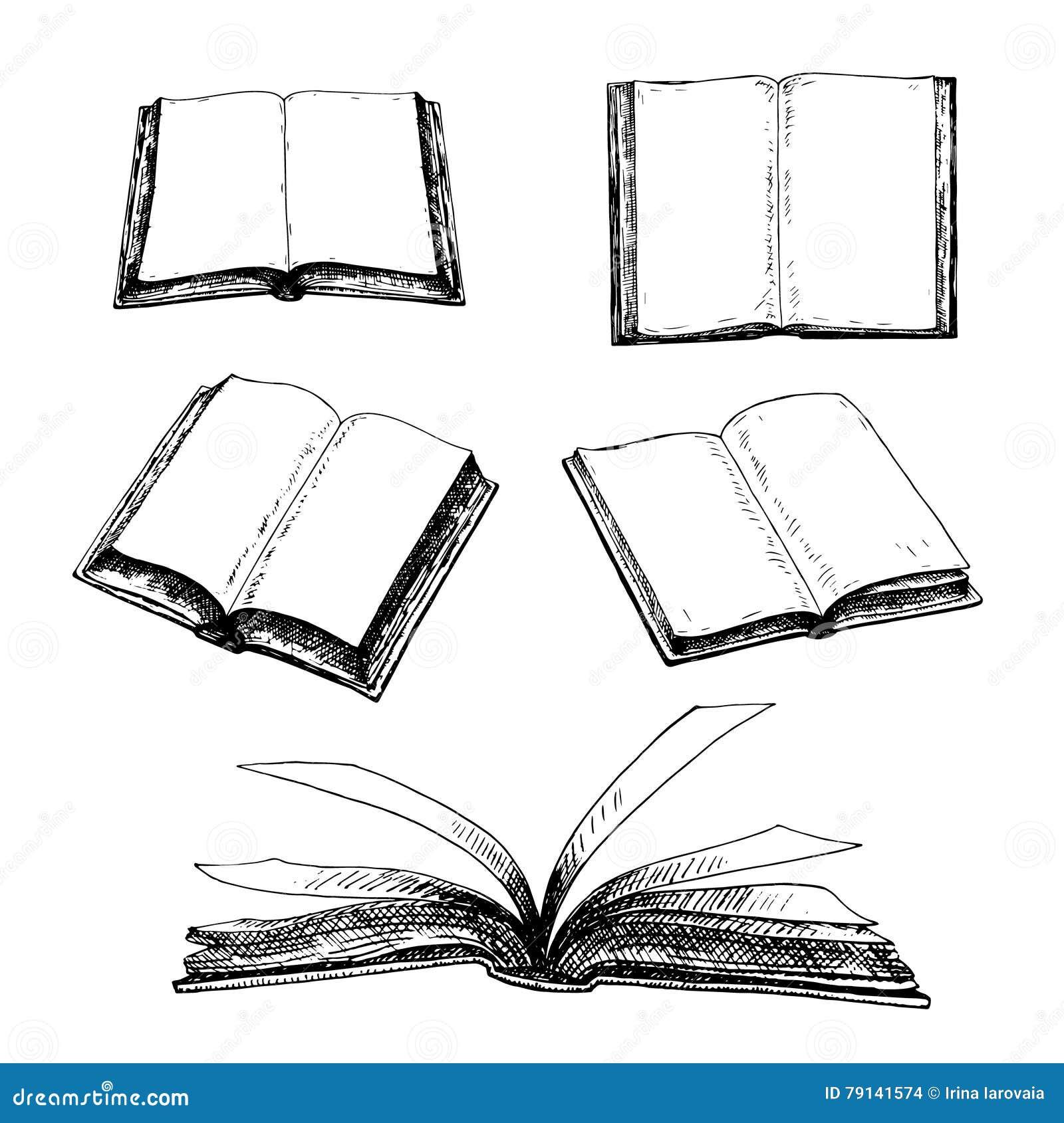 Ensemble tiré par la main de livres