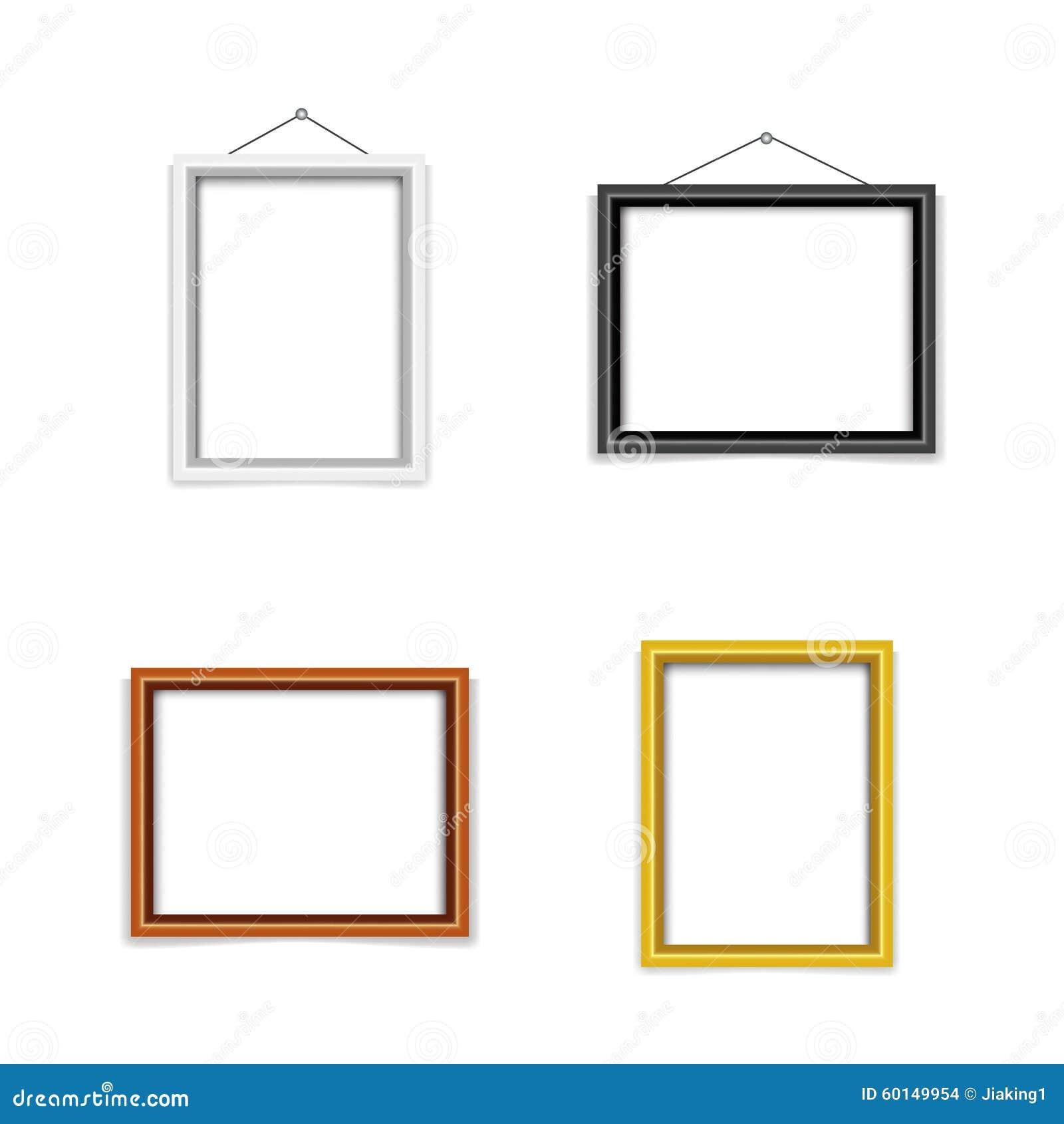 ensemble vide de calibre de cadre de photo illustration de vecteur image 60149954. Black Bedroom Furniture Sets. Home Design Ideas
