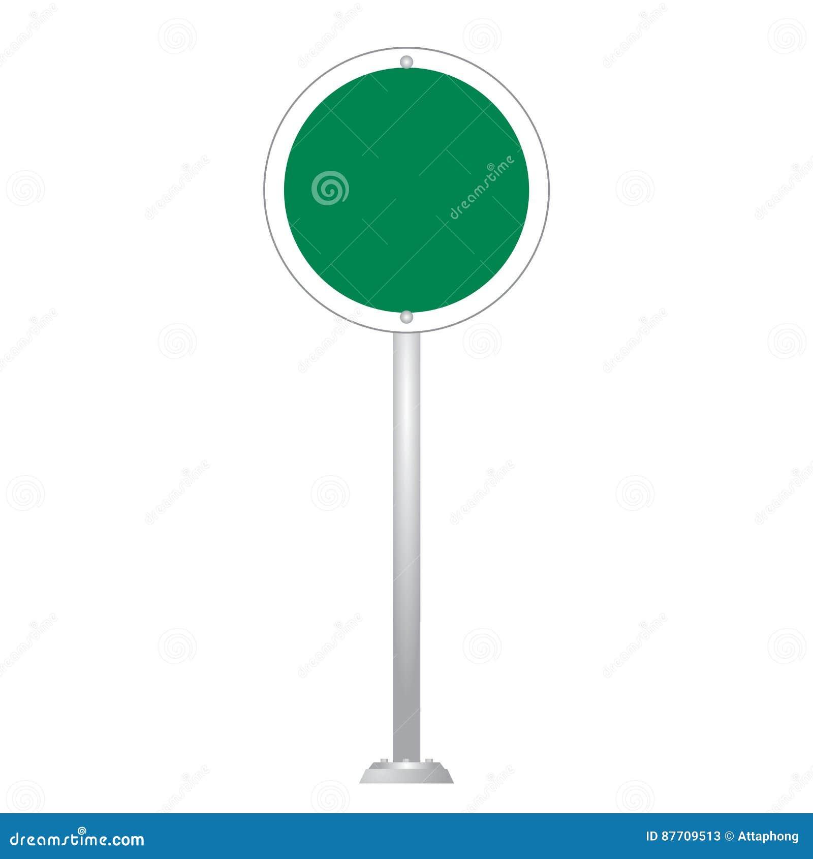 Ensemble vide vert de vecteur de panneau de panneau routier