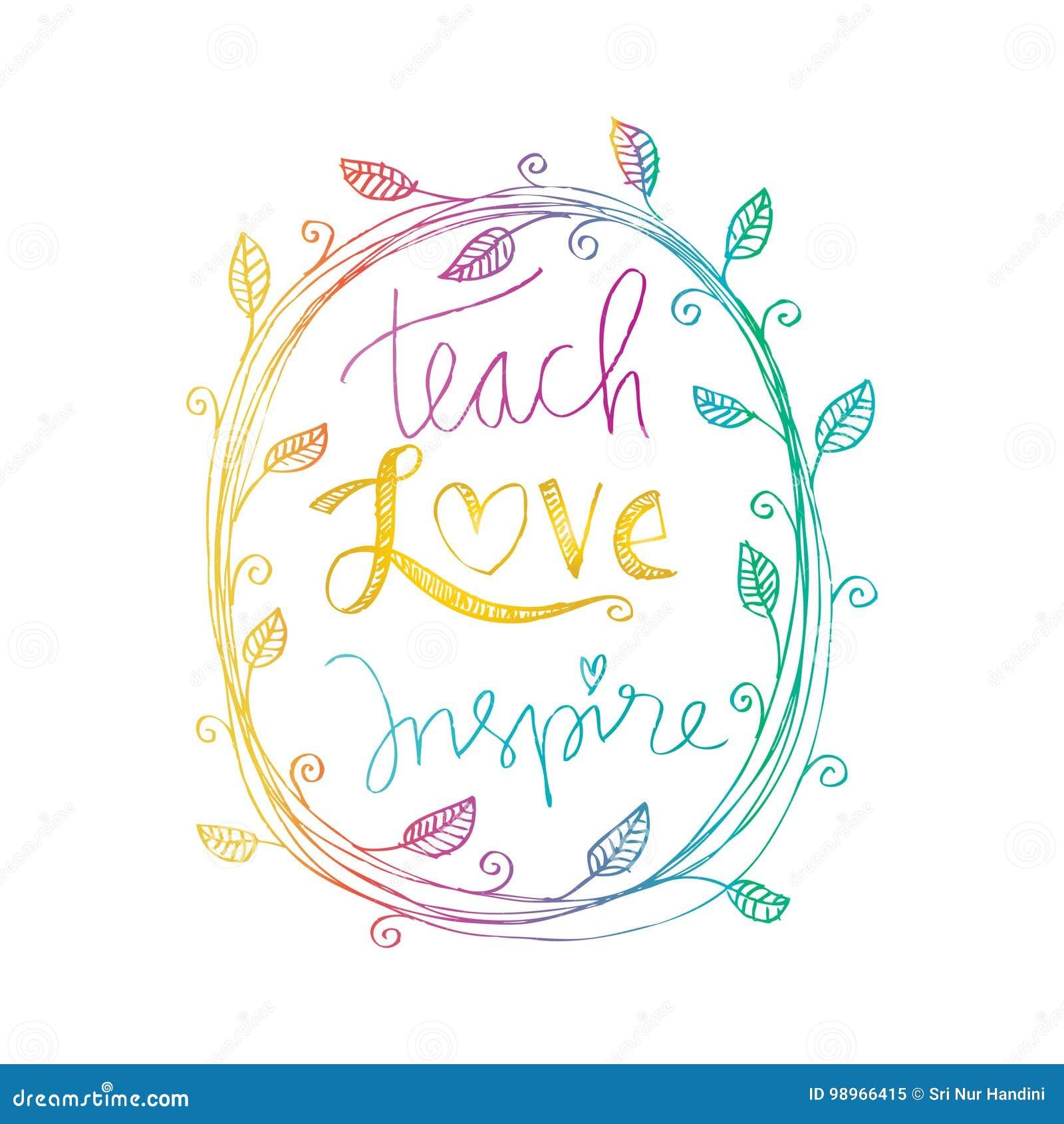 Ensine o amor inspiram
