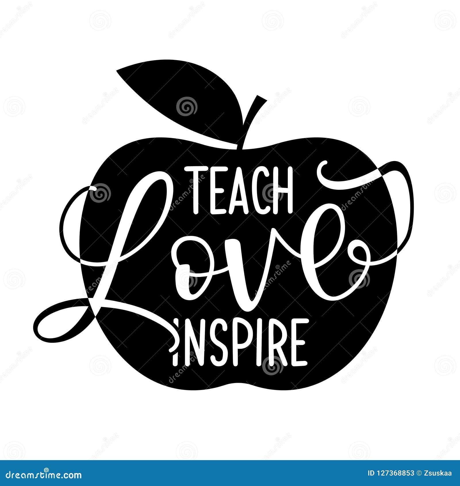 Ensine o amor inspiram - o projeto preto da tipografia