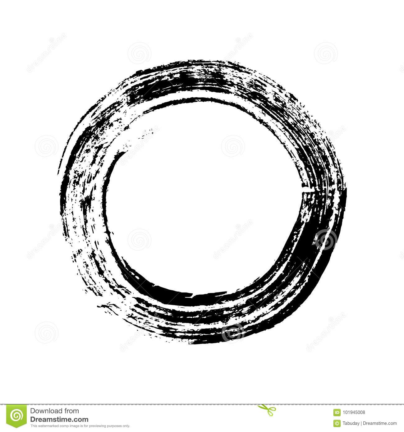 Eastern Symbol Enso Circle Stock Vector Illustration Of Chinese