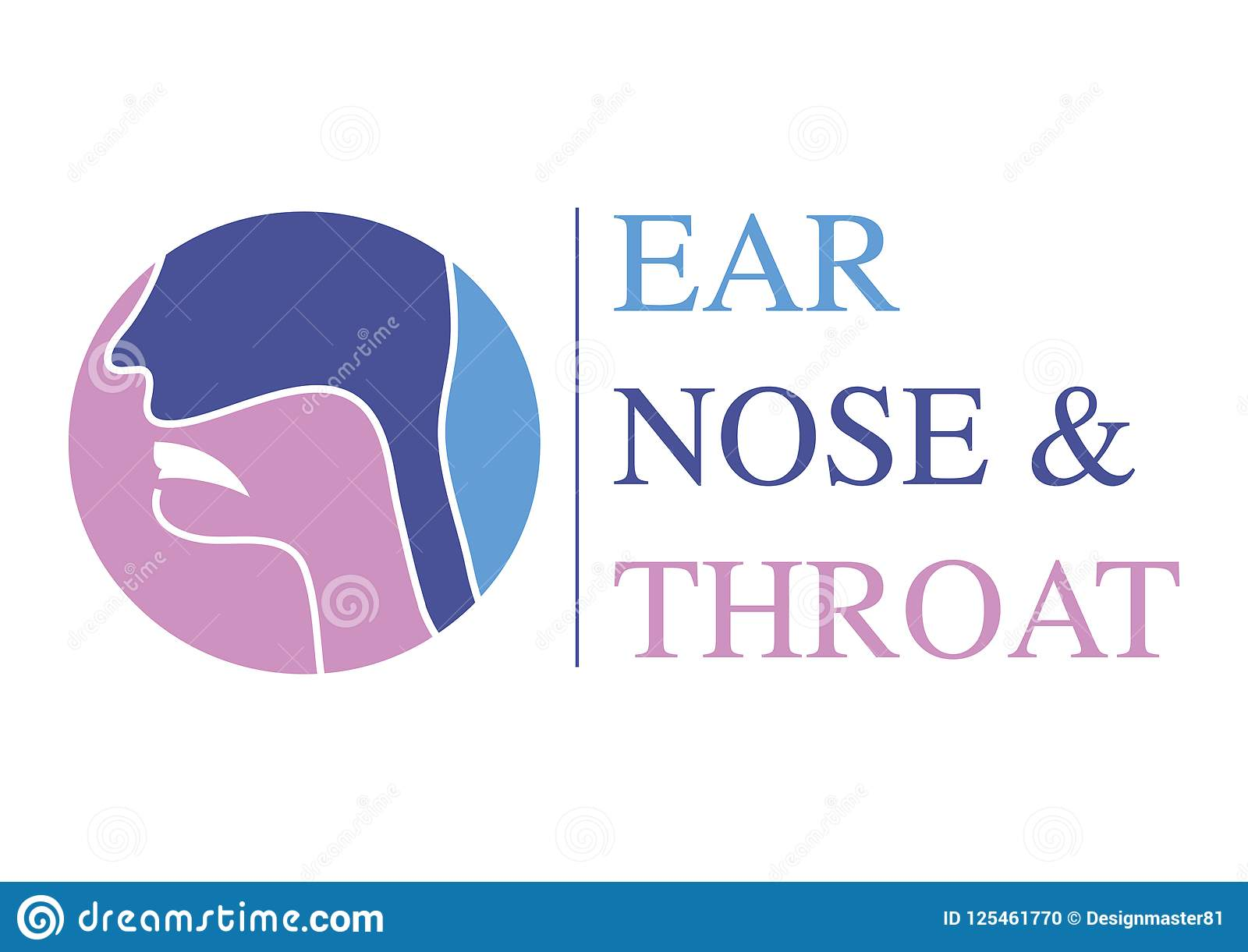 ent logo template head for ear nose throat doctor specialists