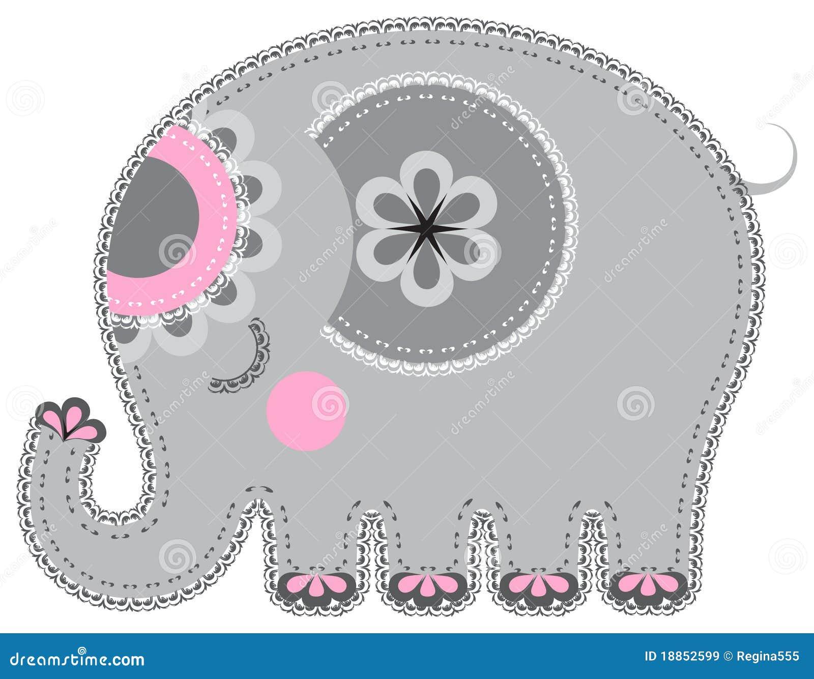 Entalhe do animal da tela. Elefante