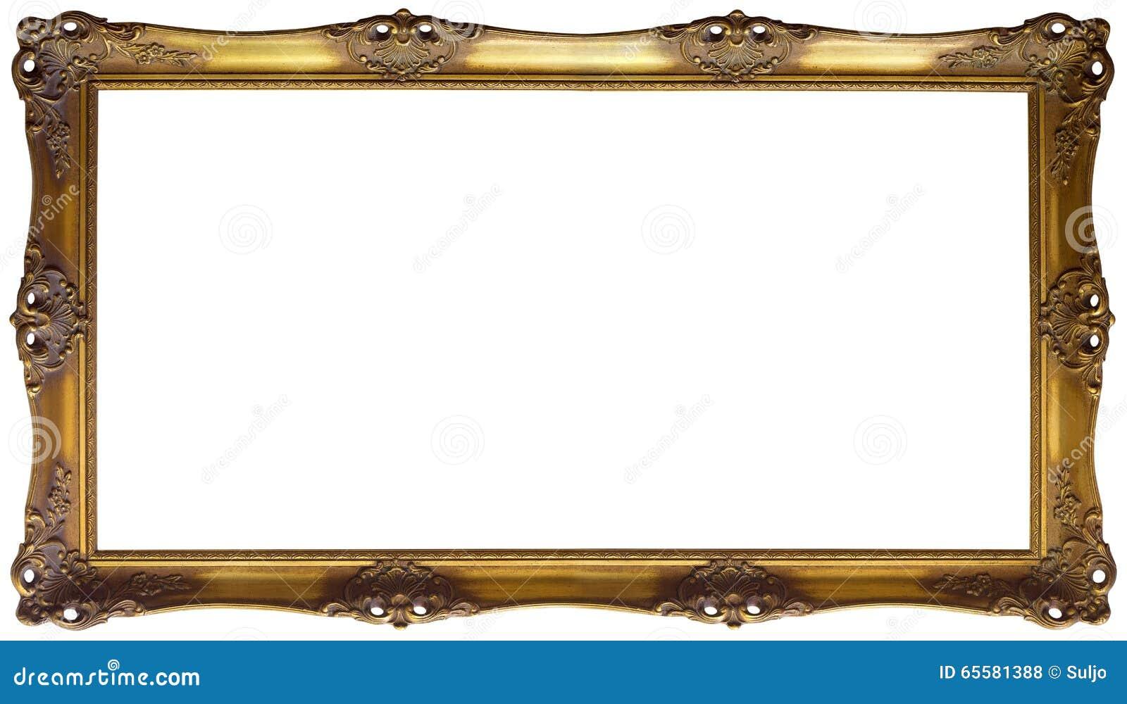 Entalhe dourado panorâmico do quadro