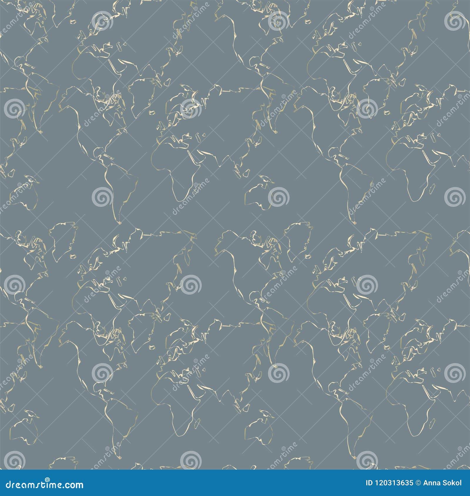 Entangled Gold line pattern