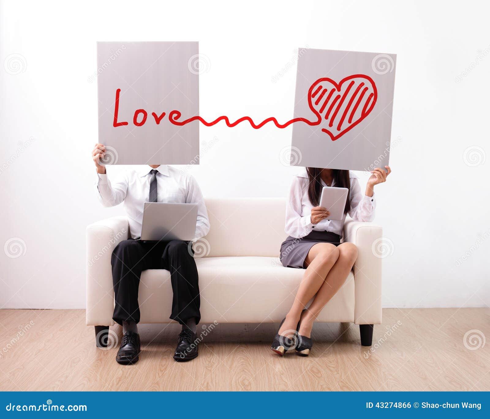 Entdeckung ture Liebe auf Internet