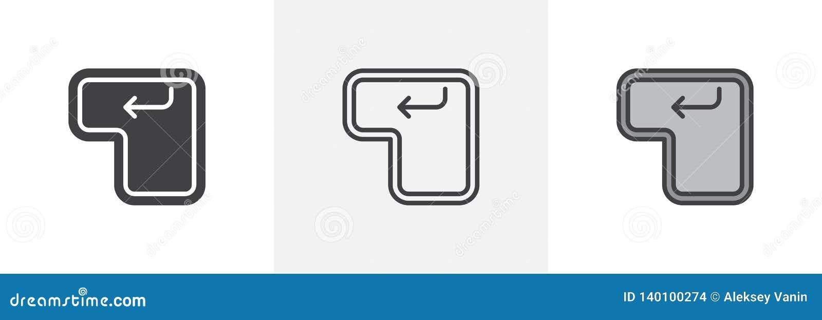 Enter key button icon stock vector  Illustration of arrow