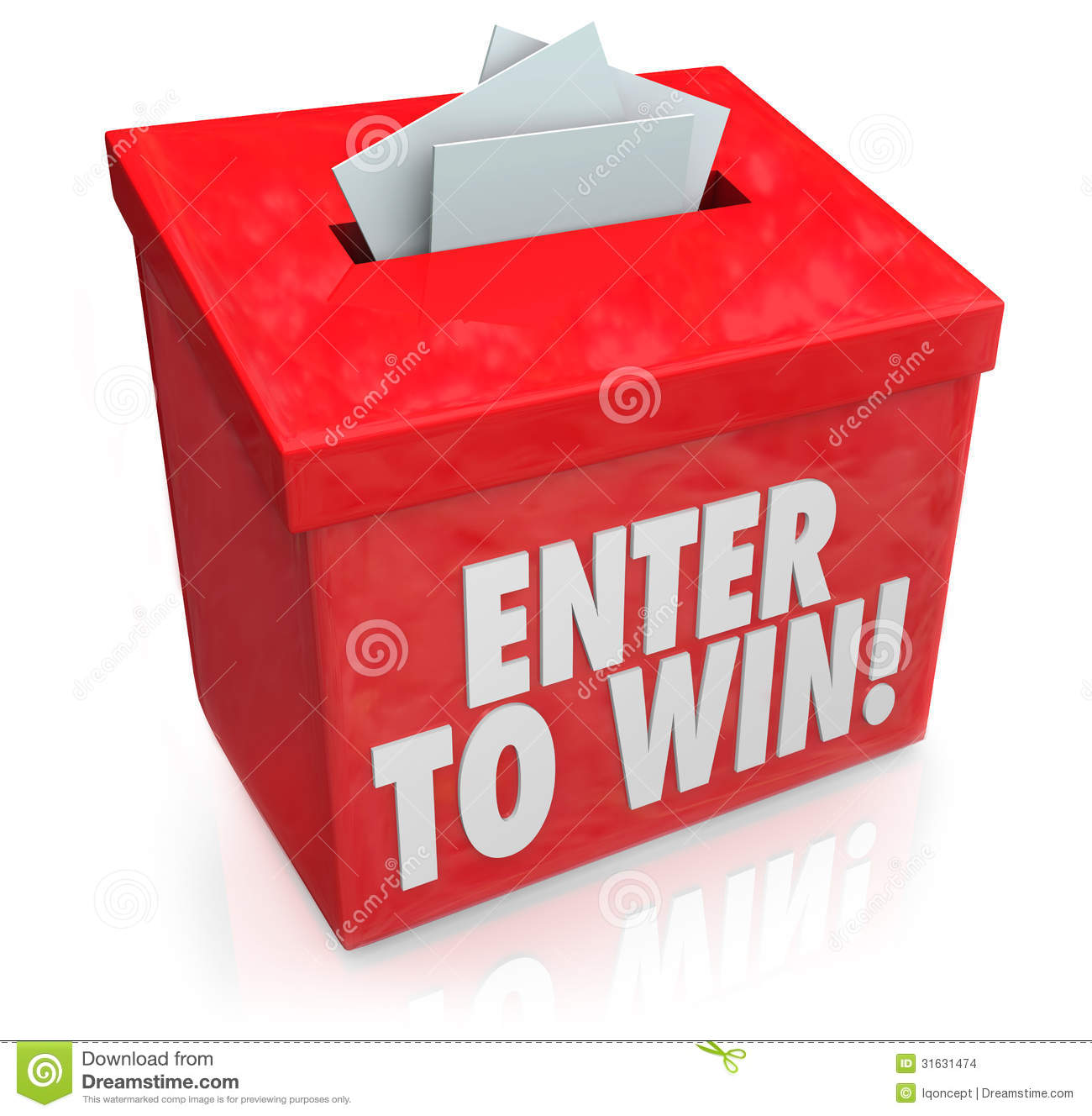 Enter To Win Red Raffle Lottery Box Entry Forms Tickets Stock Illustration - Illustration of luck, betting: 31631474 - 웹