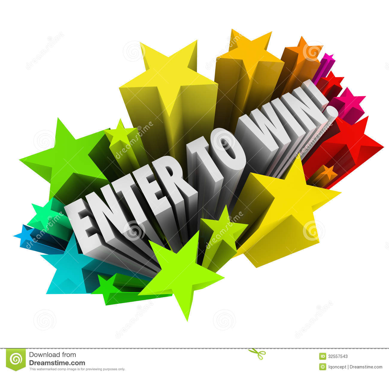 Enter To Win Stars Fireworks Contest Raffle Entry Jackpot Stock Photos ...