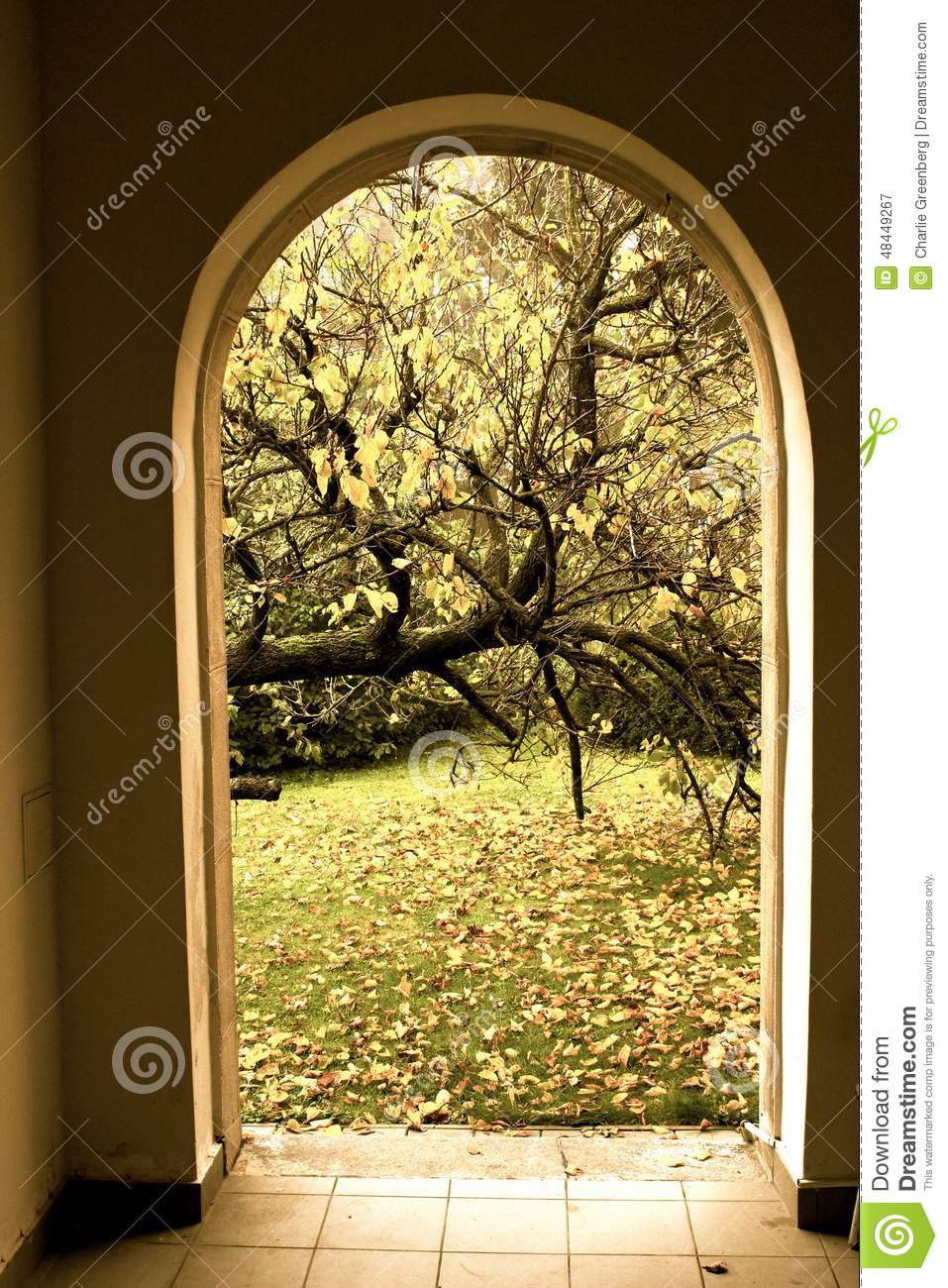 Enterance To The Garden Stock Image Image Of Your Rain 48449267