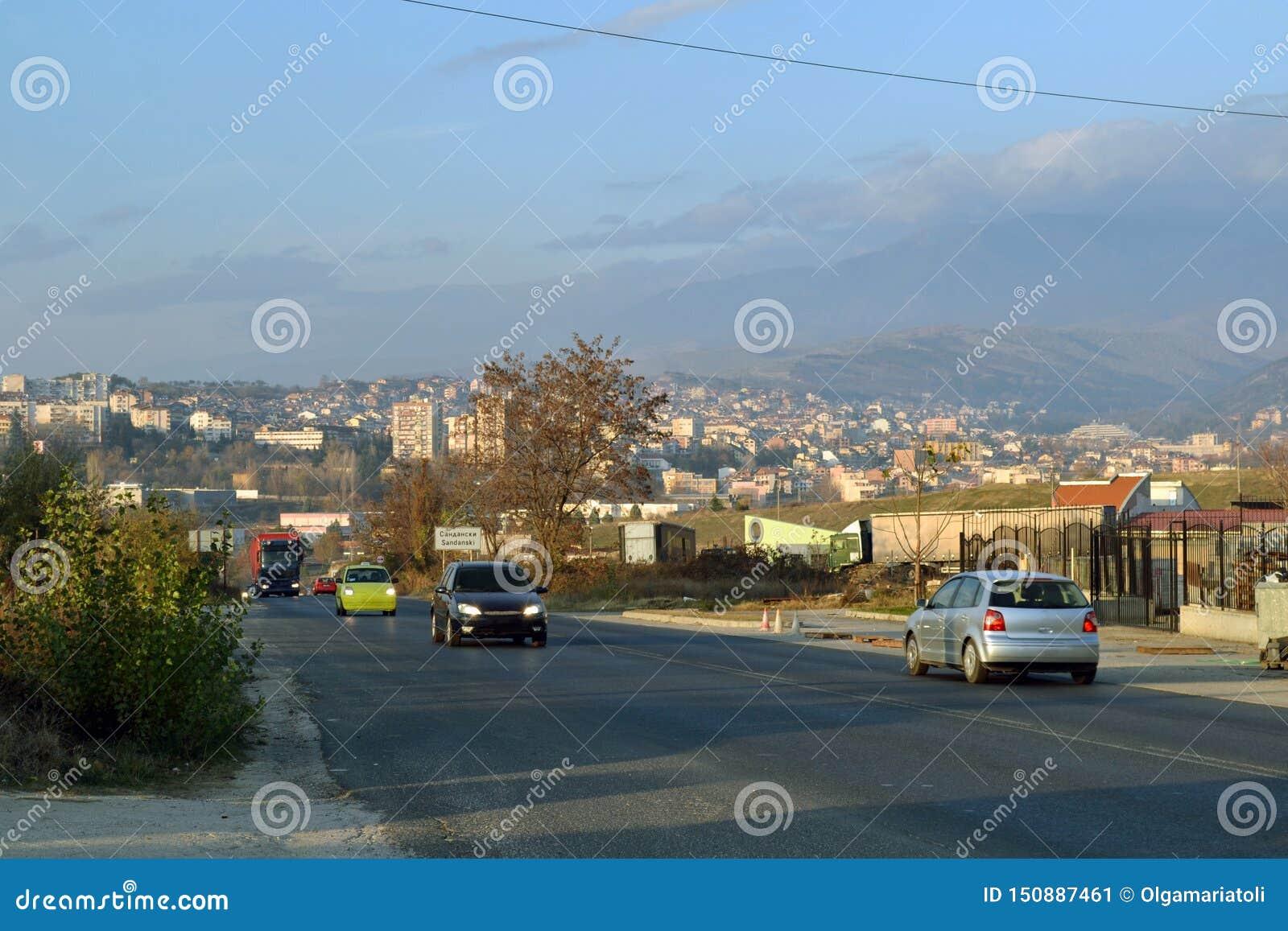 Entering Sandanski in Blagoevgrad province, Bulgaria