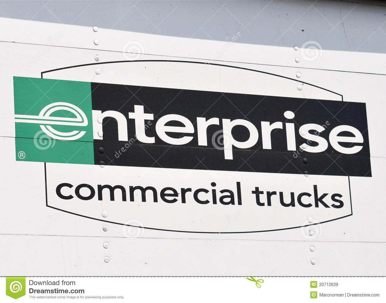 Enterprise Commercial Truck Sign Editorial Stock Image