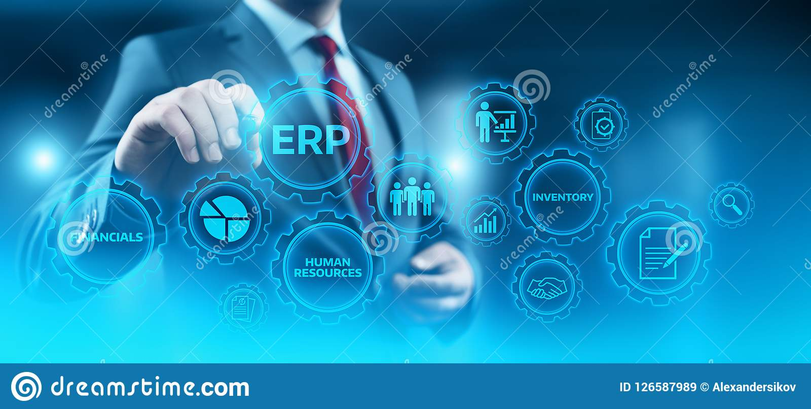 Enterprise Resource Planning ERP Corporate Company管理企业互联网技术概念