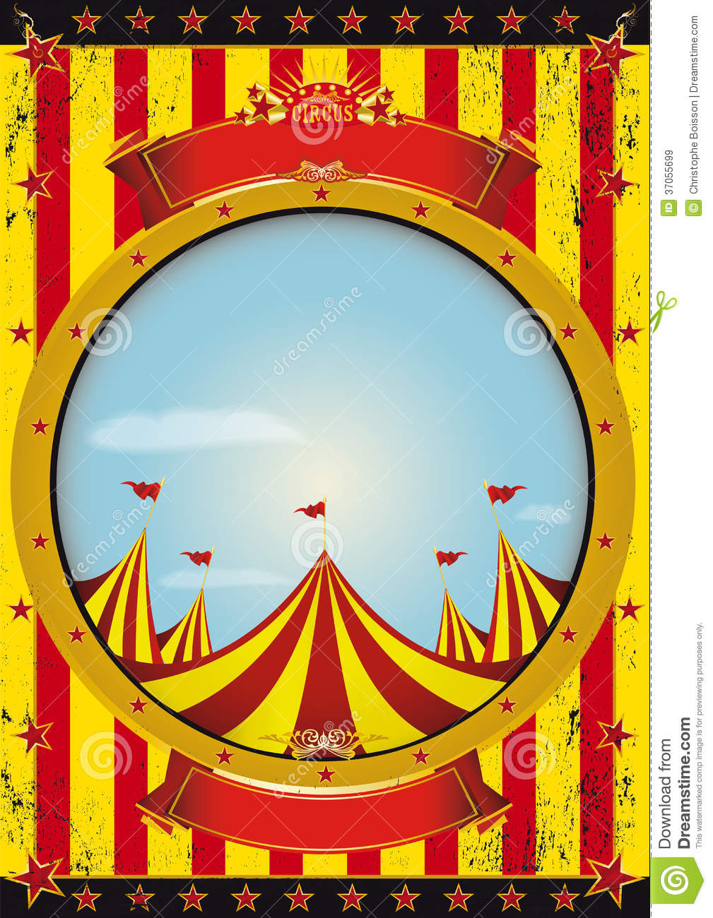 Entertainment Circus Poster Royalty Free Stock Images