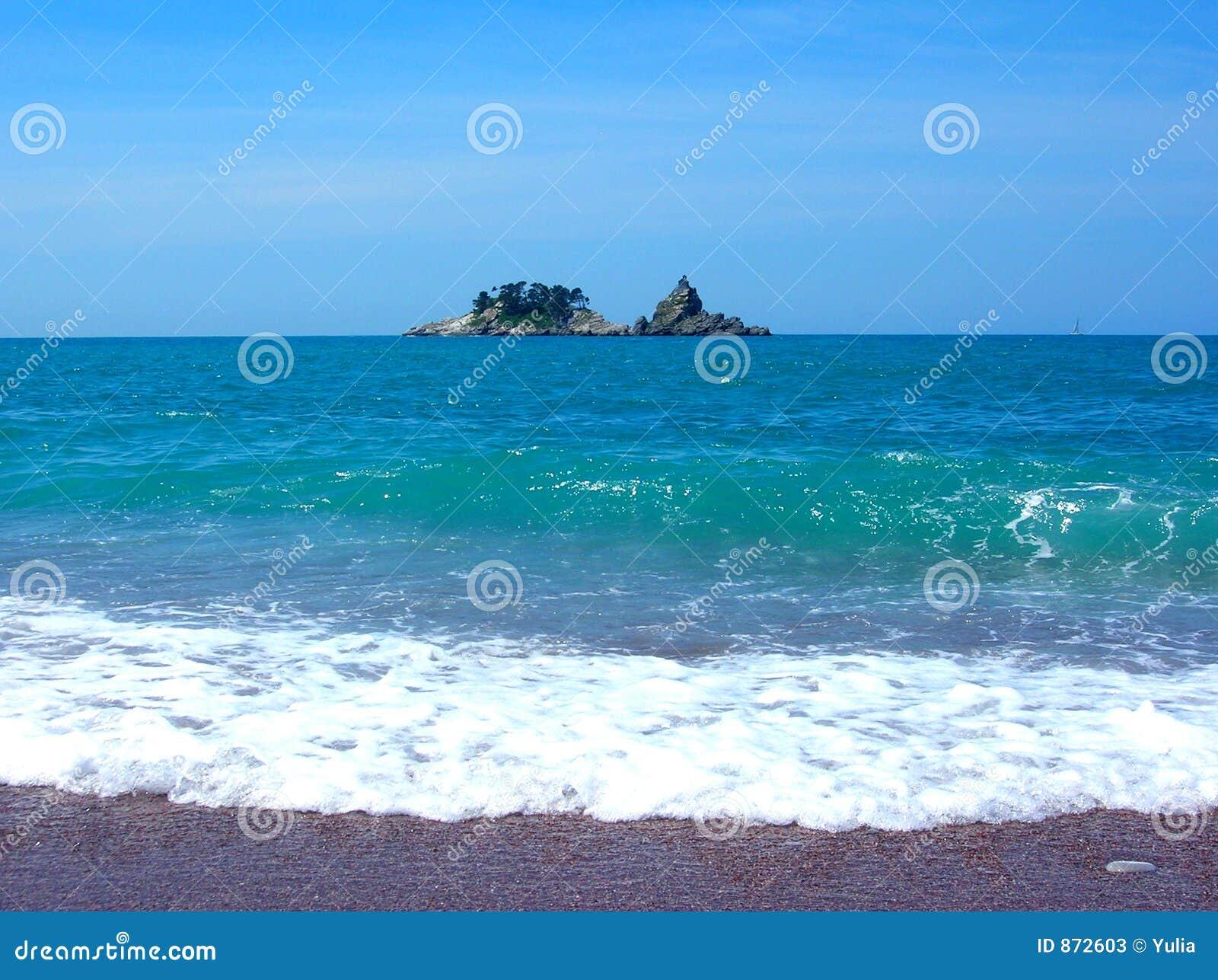 Entfernte Insel