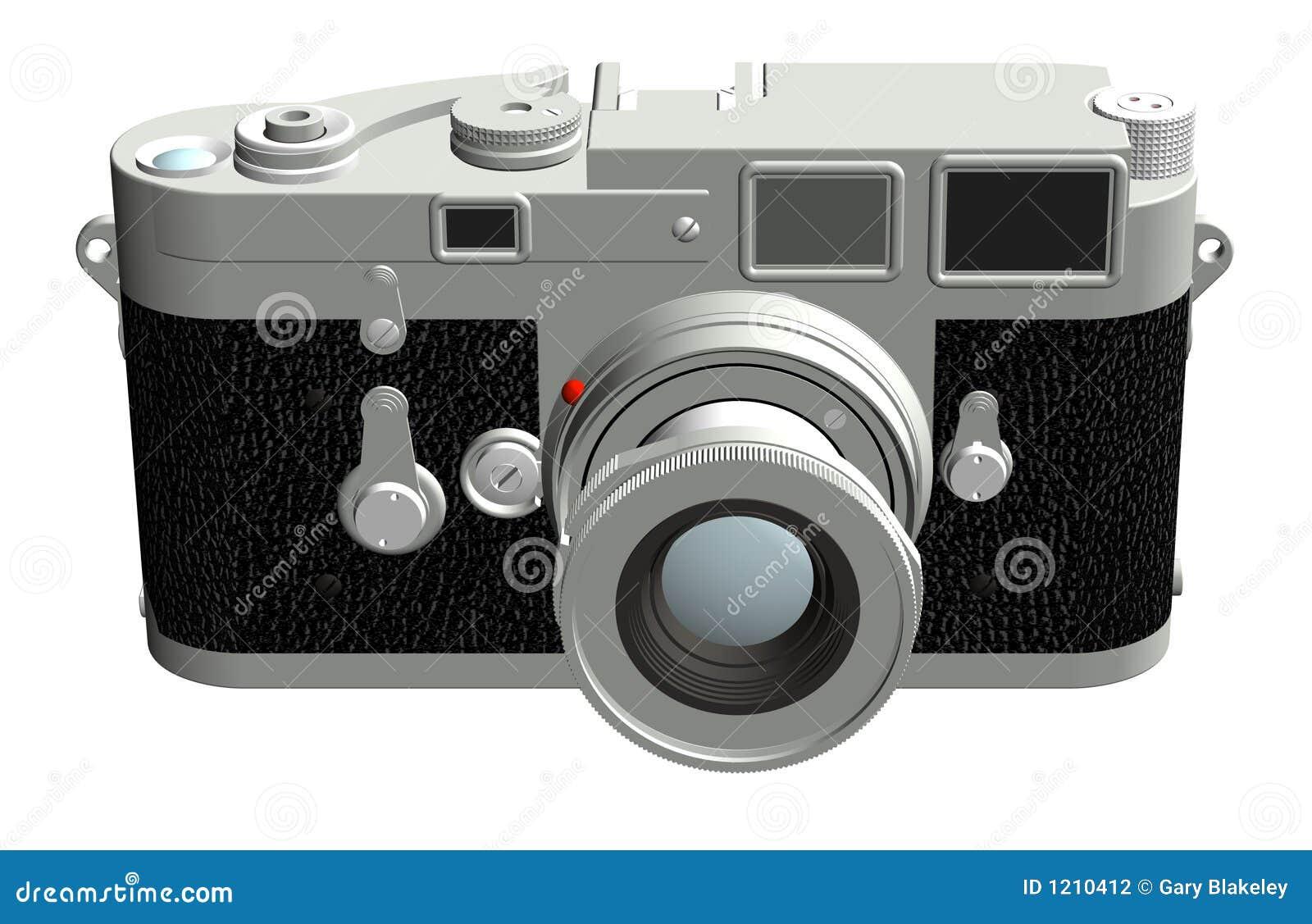 Entfernungsmesser kamera vorder stock abbildung illustration