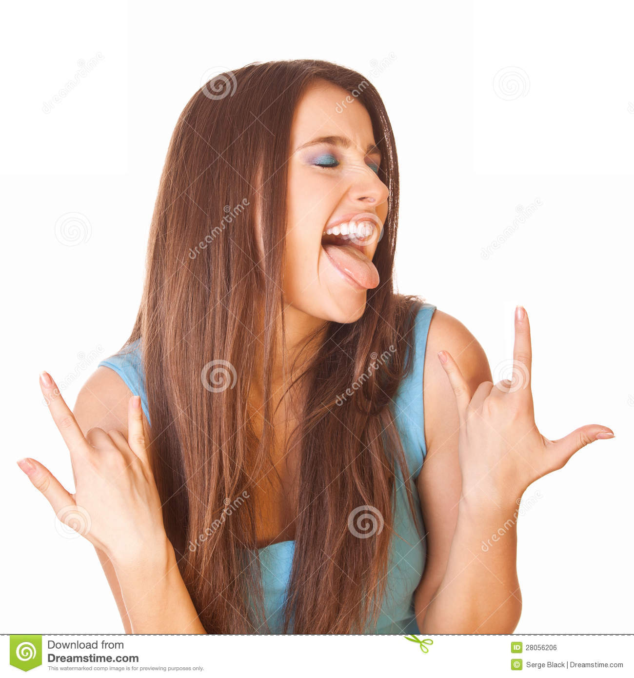 Enthusiastic and happy woman