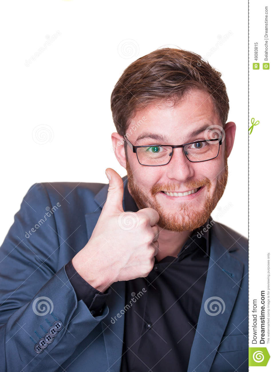 Enthusiastic Man Giving A Thumbs Up Gesture Stock Image