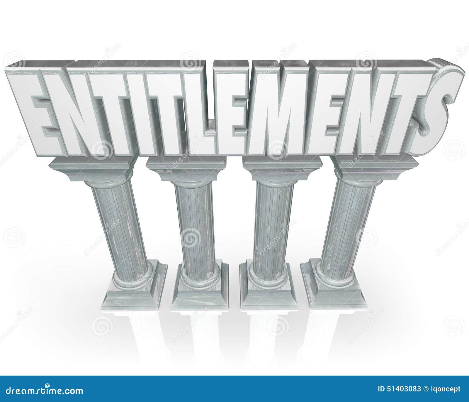 Holiday Entilement: Entitlements Stone Columns Government Benefits Handouts