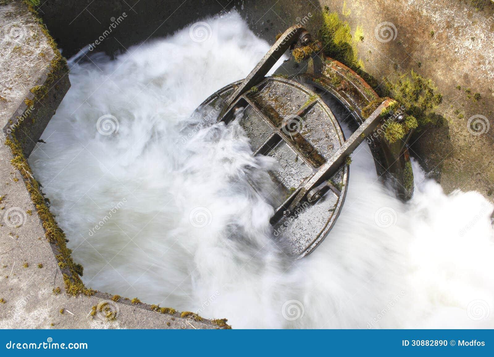 Entladung des gereinigten Wassers
