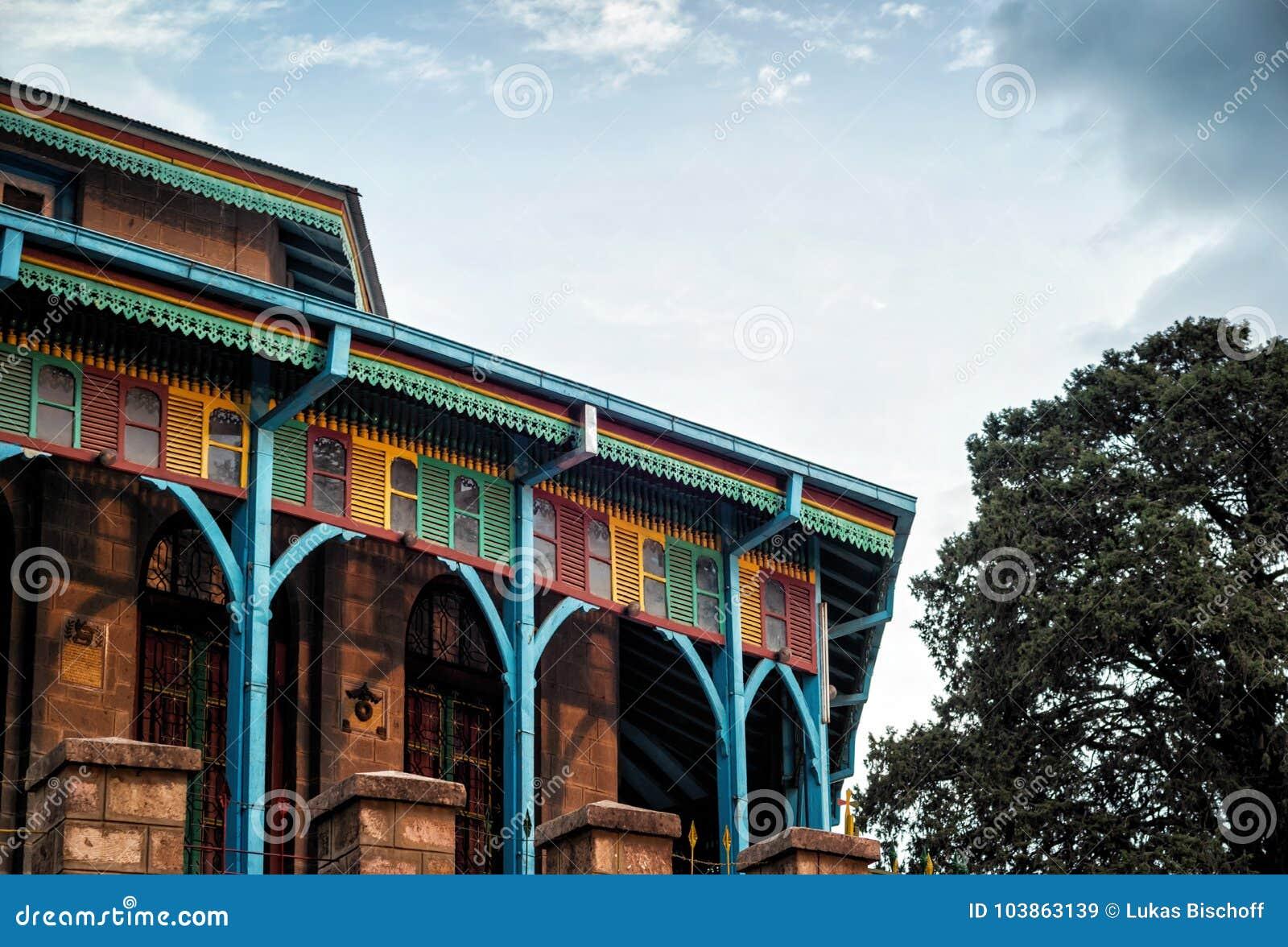 Entoto Maryam教会亚的斯亚贝巴埃塞俄比亚