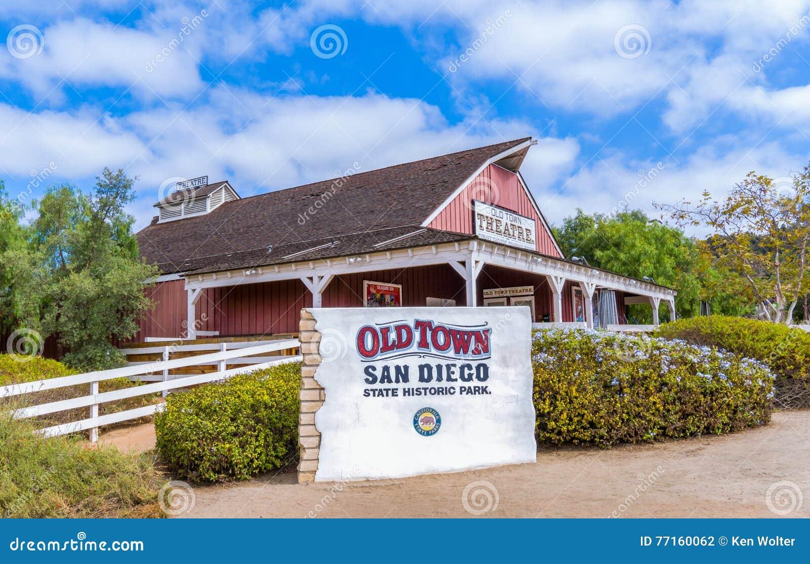 Entrée à la vieille ville San Diego State Historic Park