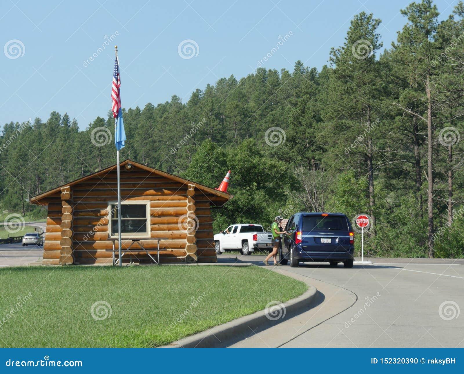Entrée de Custer State Park, le Dakota du Sud