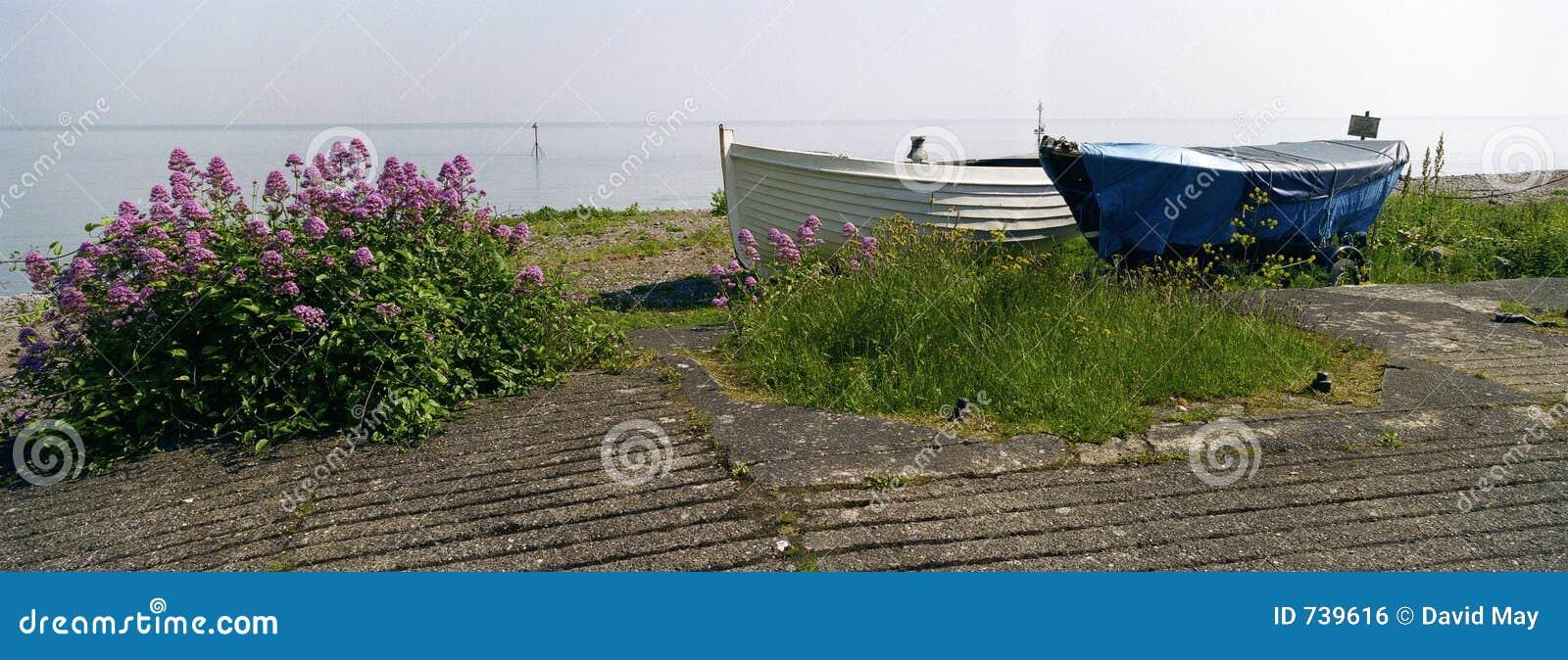Entrée de la mine Angleterre de deux bateaux d aviron
