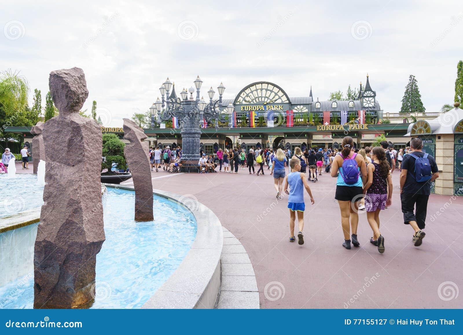 Entrée de parc d Europa dans la rouille, Allemagne