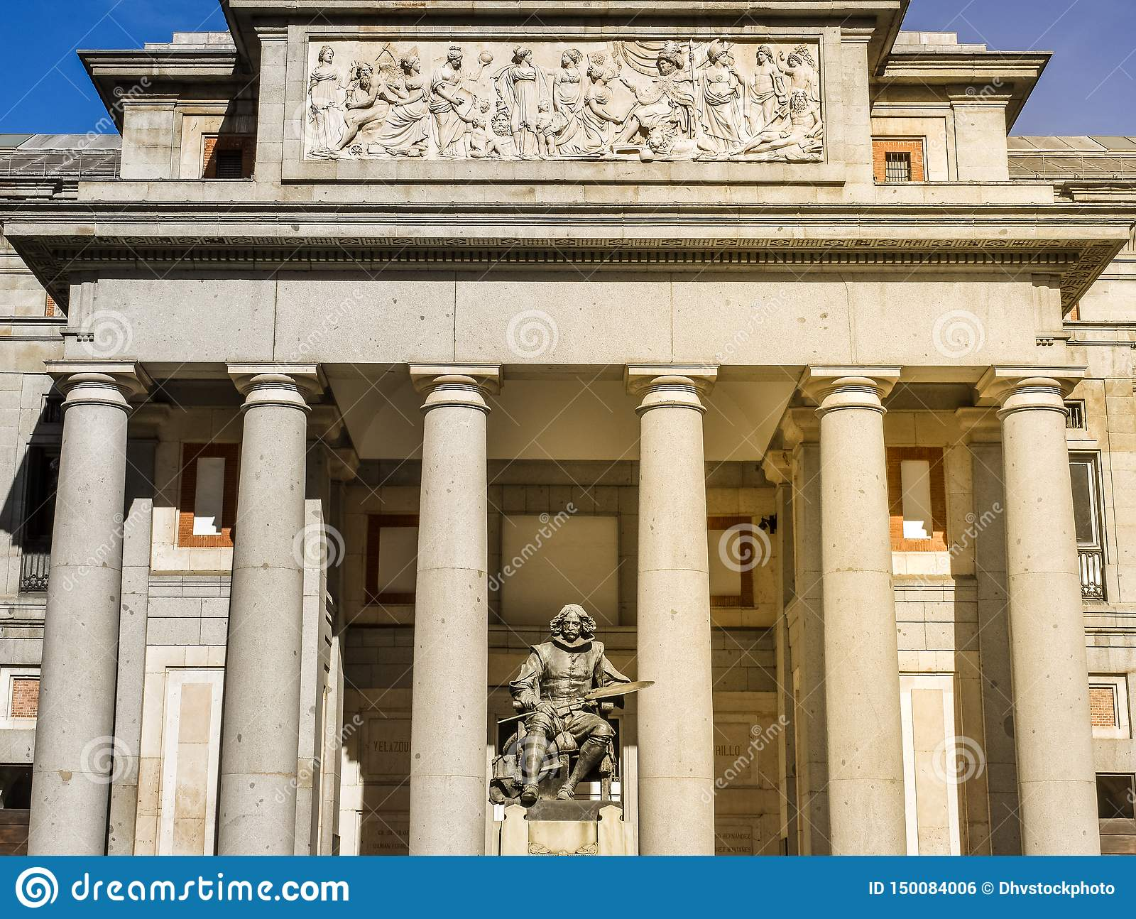 Entrée de Vélazquez au musée Madrid, Espagne de Prado