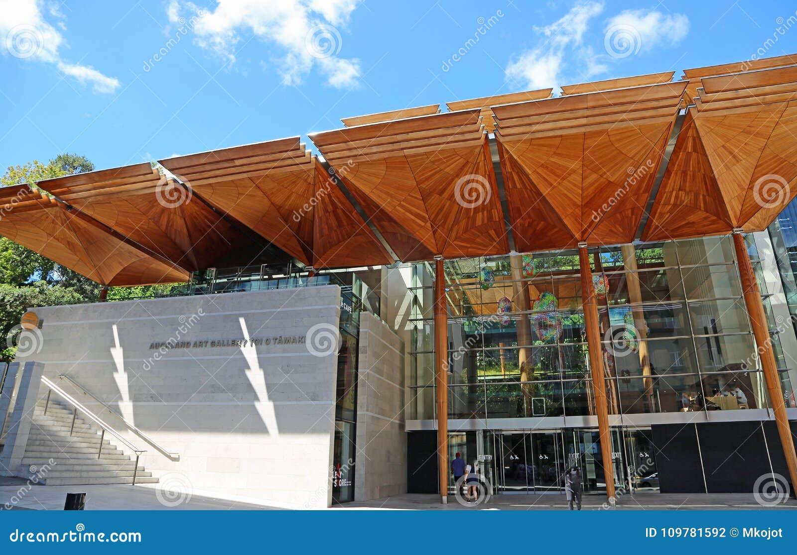 Entrée moderne vers Auckland Art Gallery Toi o Tamaki