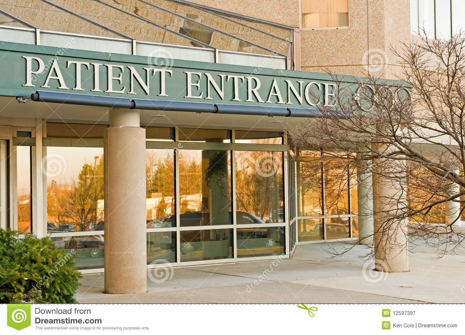 Entrée patiente à l hôpital