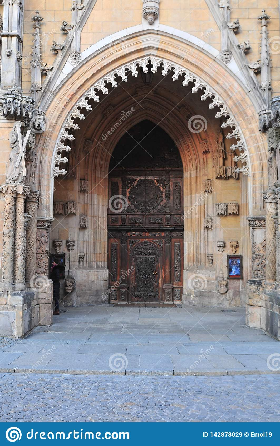 Entrée principale à la cathédrale de St John Baptist Archikatedra Sw Jana Chrzciciela