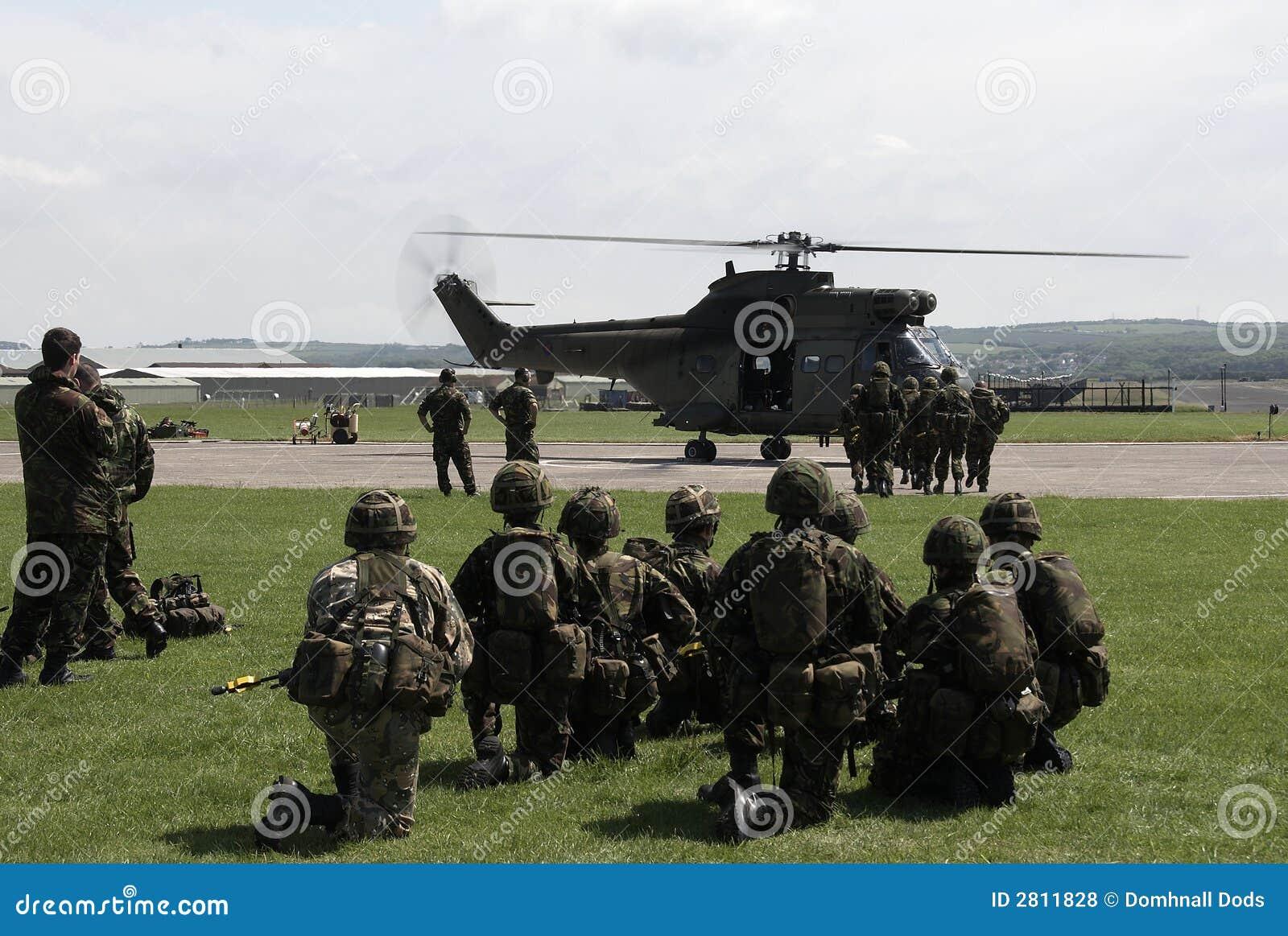 Entraînement d armée de terre britannique