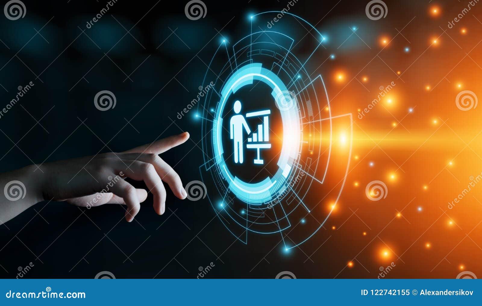 Entraînement du concept d apprentissage en ligne de développement de formation d affaires d éducation de tutelle