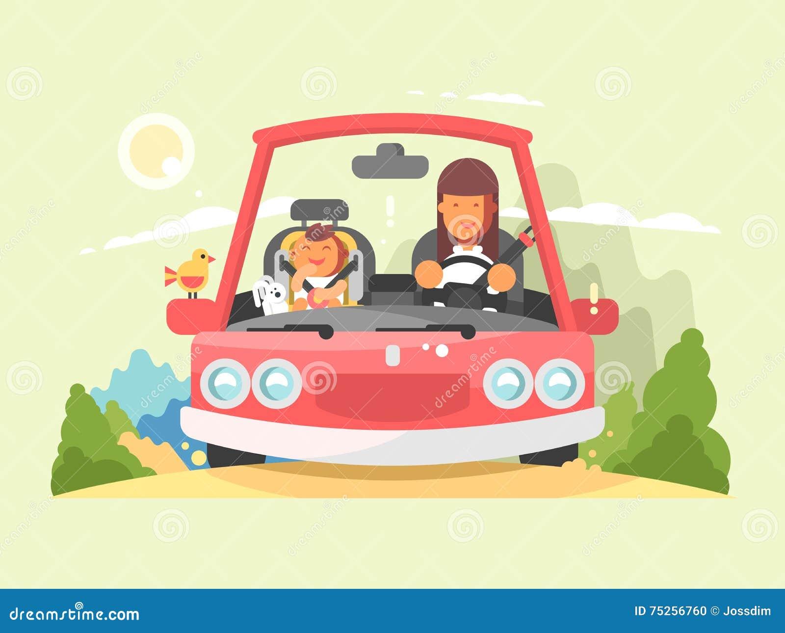 Entraînement sûr dans la voiture