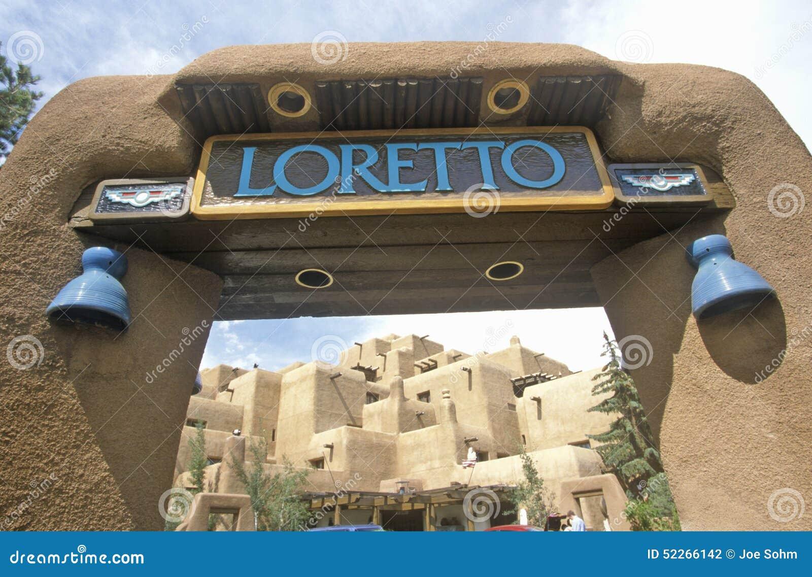Entrada à pensão de Loretto, Santa Fe, nanômetro