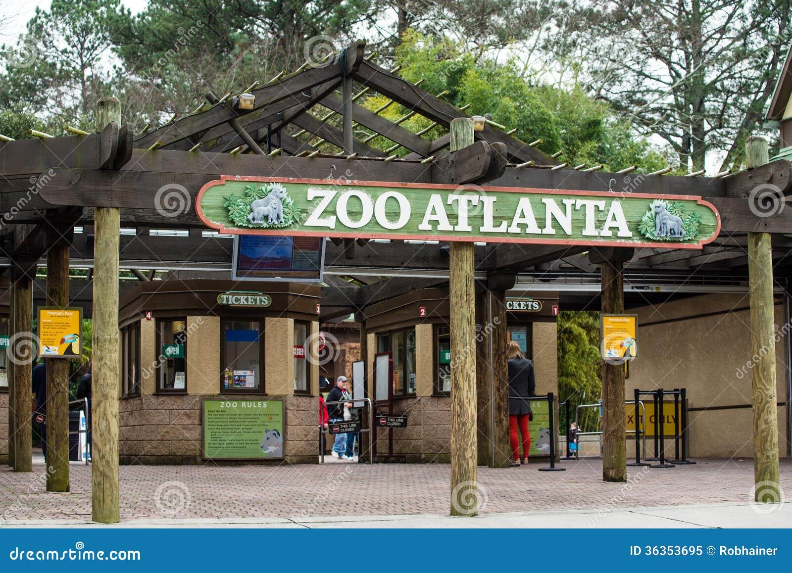Entrada al parque zool gico atlanta imagen editorial for Parque japones precio de entrada