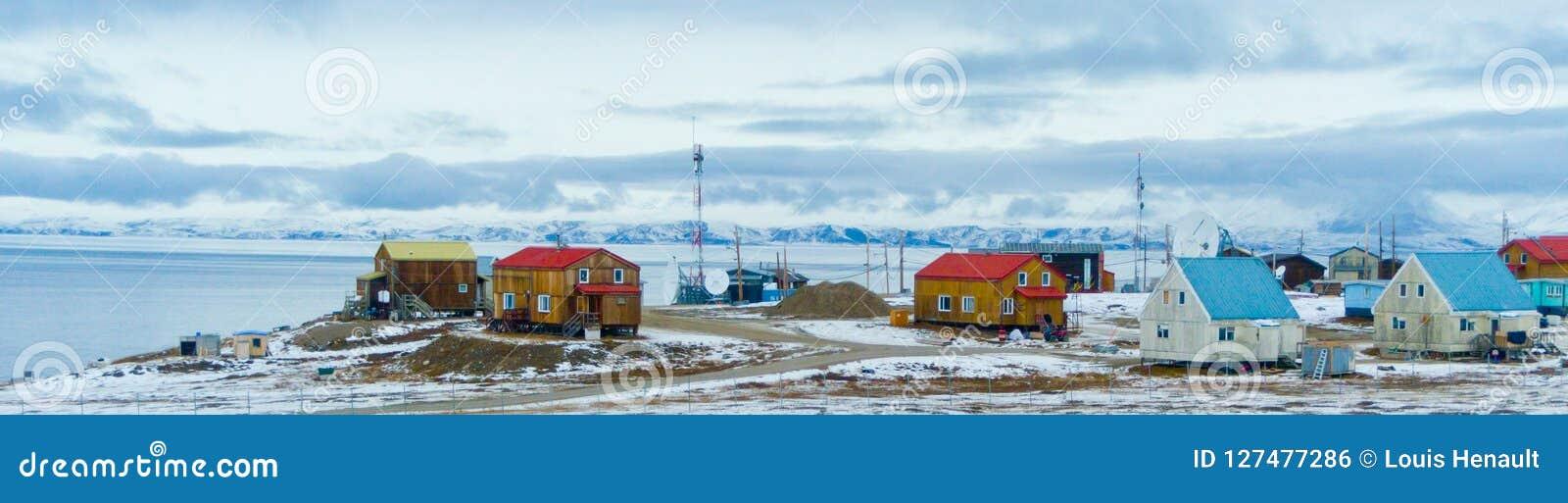 Entrada da lagoa, ilha de Bafim, Nunavut, Canadá