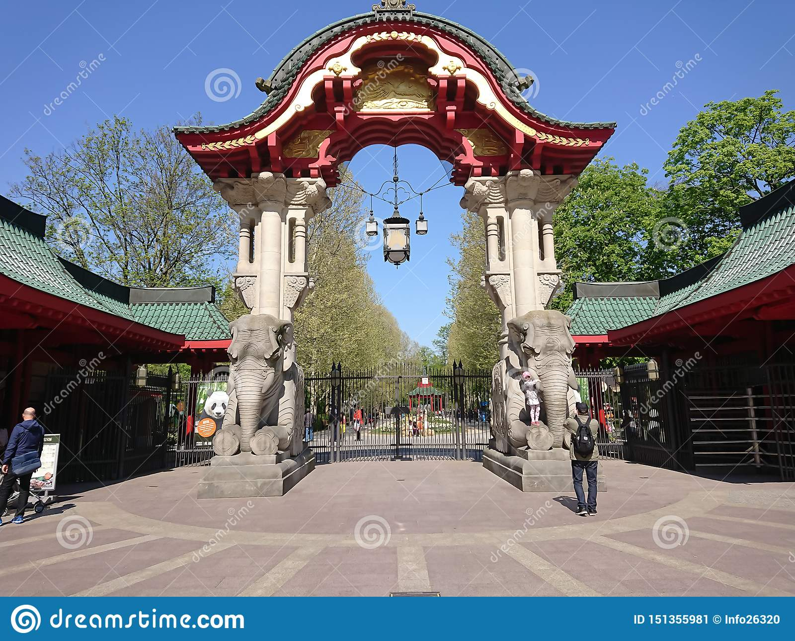 Entrada da porta do elefante de Berlin Zoological Garden