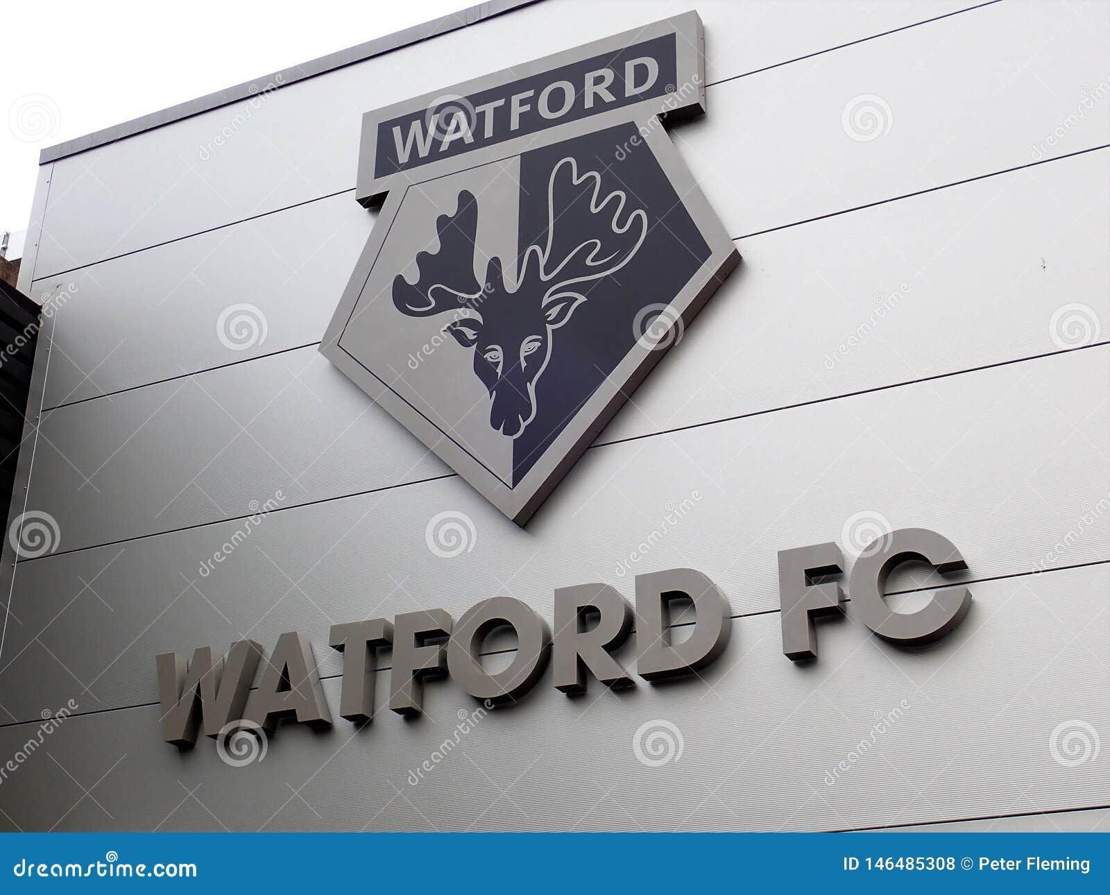 Entrada de la hospitalidad, estadio del club del f?tbol de Watford