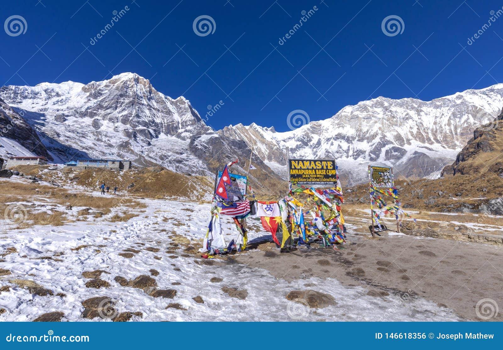 Entrada del campo bajo de Annapurna