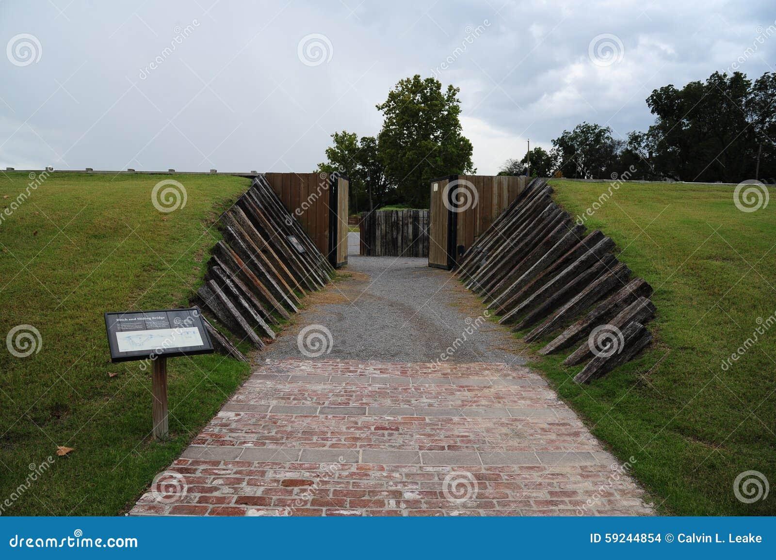 Entrada del fuerte Curtis Stronghold, Helena Arkansas