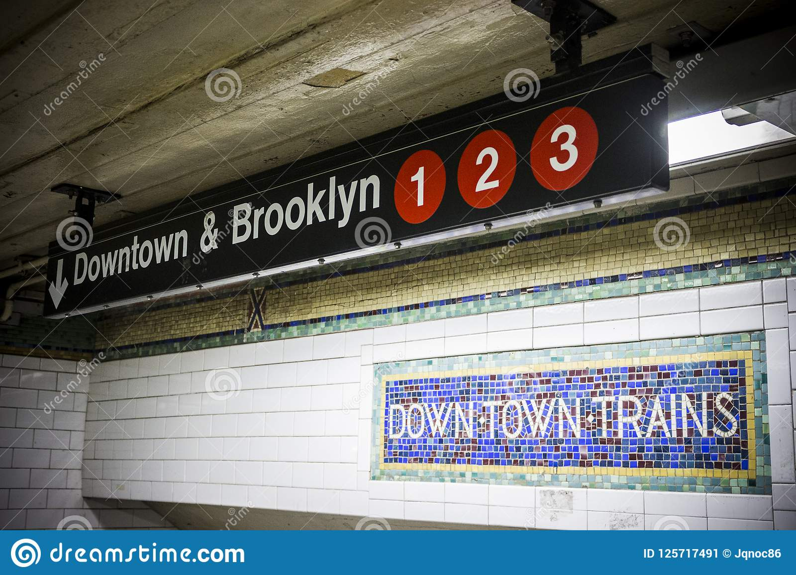 Entrada del metro de New York City