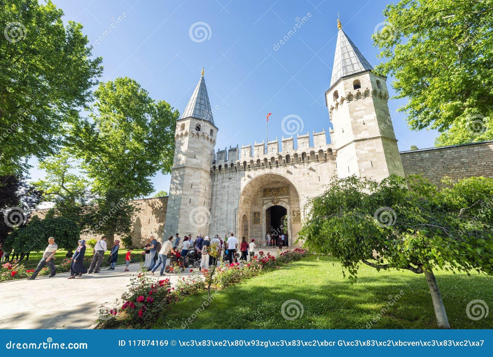 Entrada del palacio de Topkapi, Estambul, Turquía