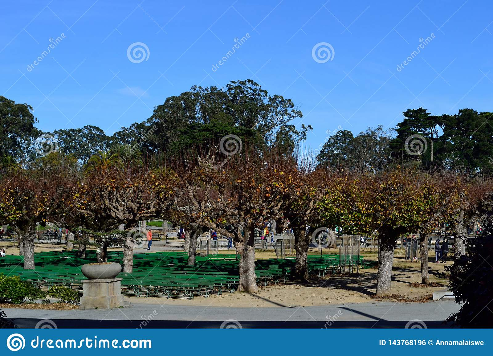 Entrada del parque del jardín botánico de San Francisco
